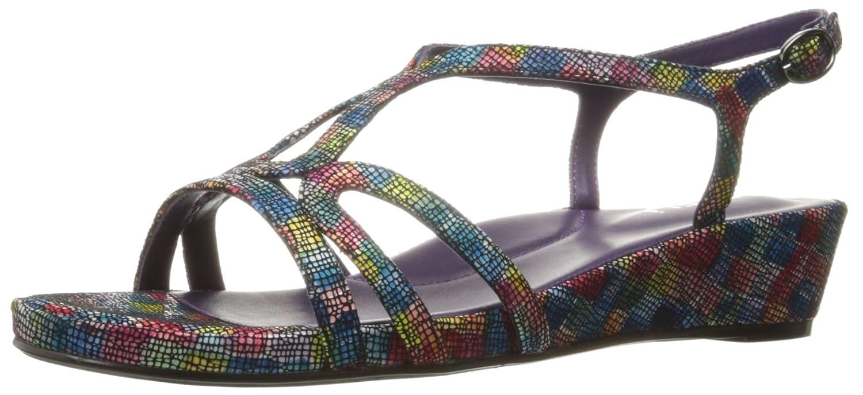 VANELi Women's Daffy Wedge Sandal B01IBP04M4 7 W US Multi Kaleido/Gunmetal Buckle