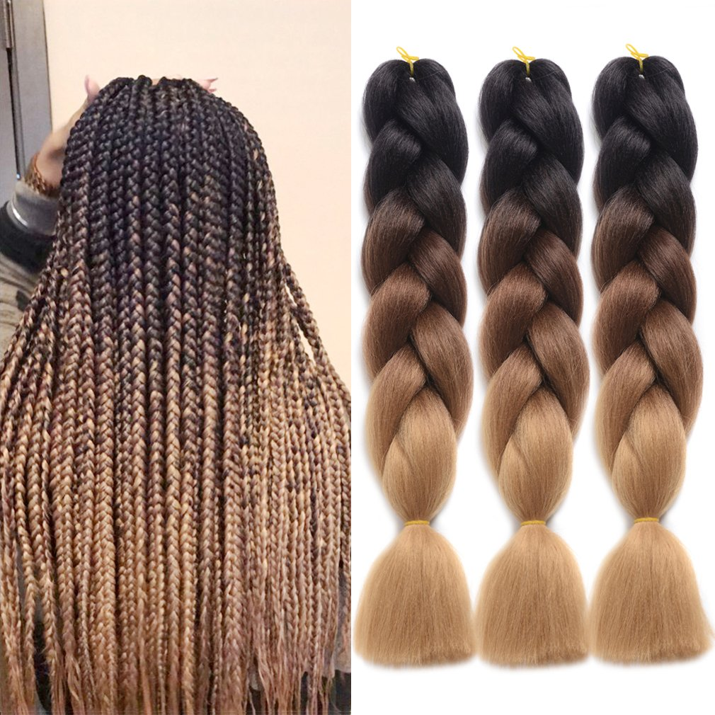 Amazon Ddhair Synthetic Braiding Hair Jumbo Braid Hair 5pcslot