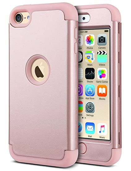 on sale 55b99 4db46 ULAK iPod Touch 7 Case, iPod Touch 6 Case, Heavy Duty Protection Shockproof  High Impact Knox Armor Protective Case for Apple iPod Touch 5/6/7th ...