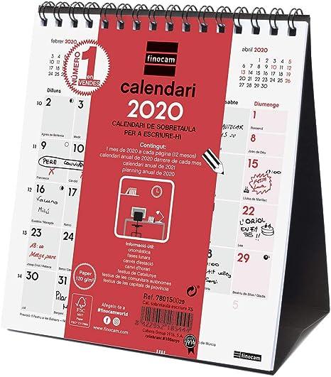 Finocam - Calendario de sobremesa 2020 Escribir catalán: Amazon.es ...