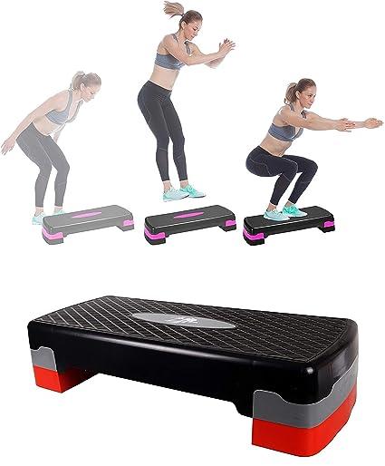 The Step Gym Exercise Aerobic Stepper Black