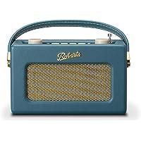 Roberts Revival Uno Retro Portable/Compact DAB/DAB+/FM Digital Radio with Alarm Clock Radio, Teal Blue