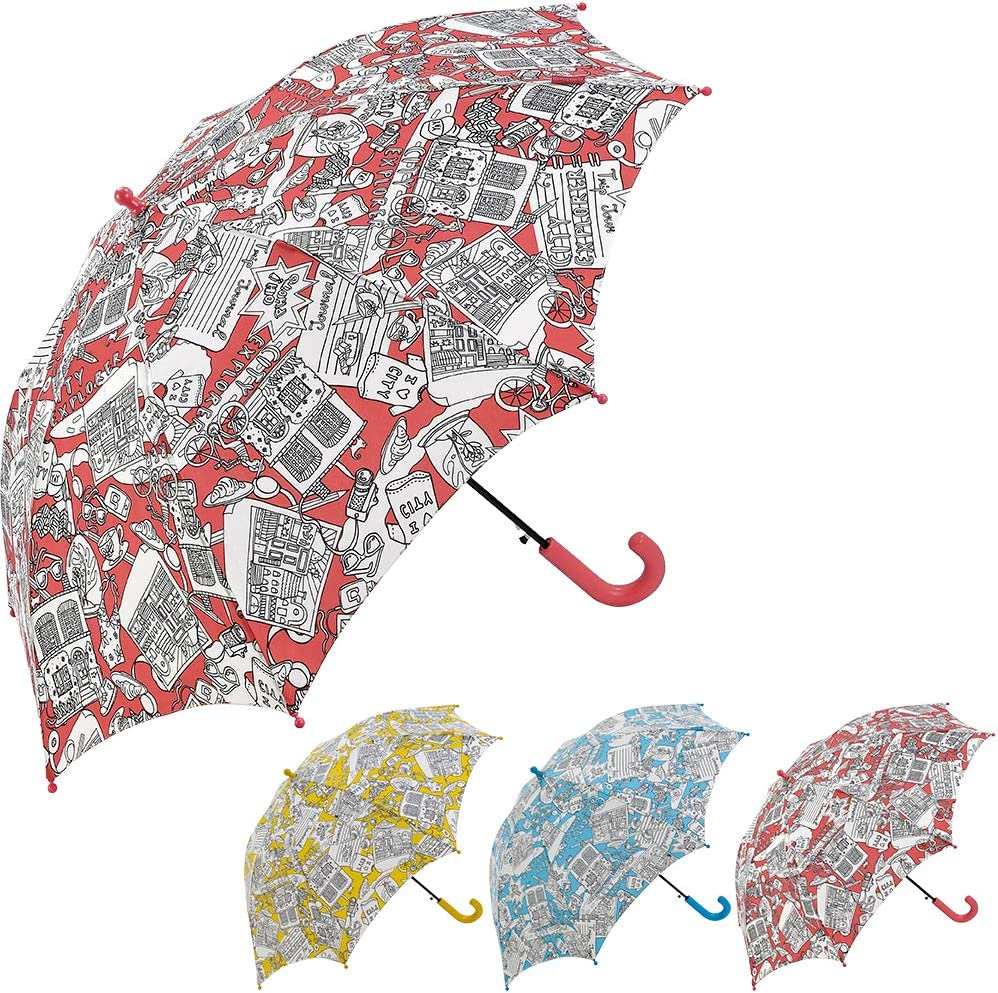 Bisetti Paint - Clima Paraguas Grande Automático   Paraguas Antiviento  Coloreable Ideal para Viajes, Hombre y Mujer, Amarillo: Amazon.es: Equipaje