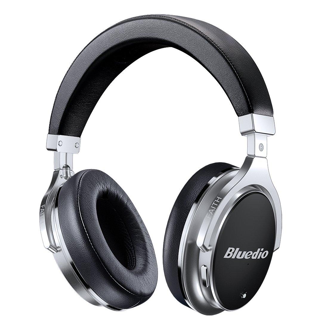 Bluetooth Headphones Active Noise Cancelling, Bluedio F2 ANC Over Ear Wireless Headphones 180° Rotation,Wired and Wireless Headphones for Cell Phone/TV/ PC - Black