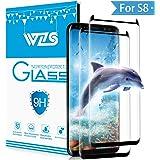 WZS [2-Pack Vetro Temperato Galaxy S8 Pellicola Protettiva Vetro Temperato Screen Protector Film Ultra Resistente (0,33mm HD Alta trasparente) per Samsung Galaxy S8