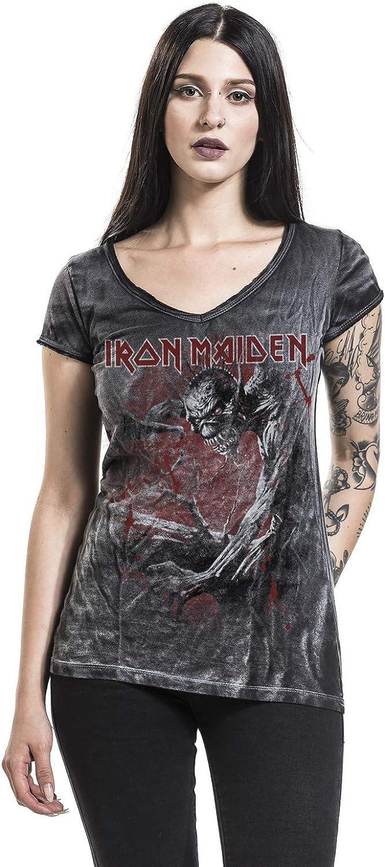 Iron Maiden Fear of The Dark Vintage Frauen T-Shirt schwarz//Used Look Band-Merch Bands
