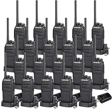 Retevis H-777S 2 Way Radios Walkie Talkies Rechargeable Voice Encrypt Security Monitor Scan Function Two Way Radio Long Range 20 Pack