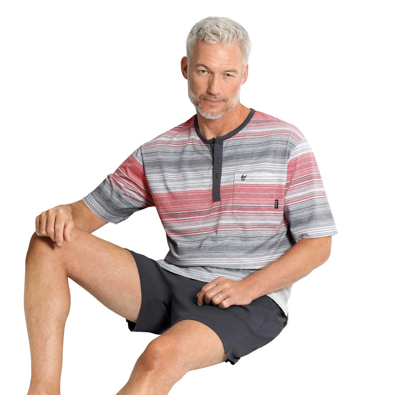 Hajo Klima Komfort Herren-Shorty mit hochwertigem Stickmotiv Single-Jersey