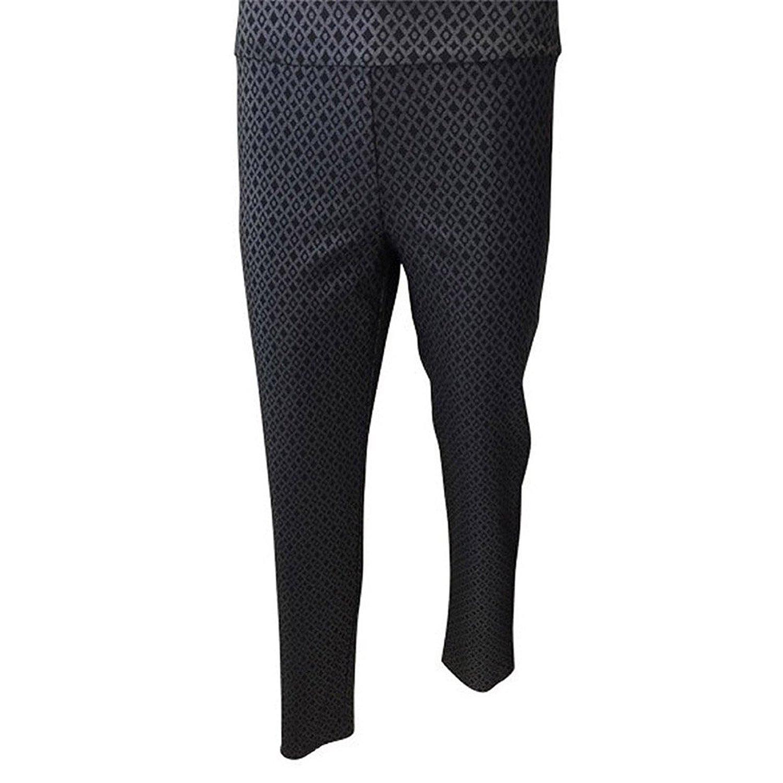 Krazy Larry Women's Snake Print Pull On Ankle Pants (0, Black Foil)