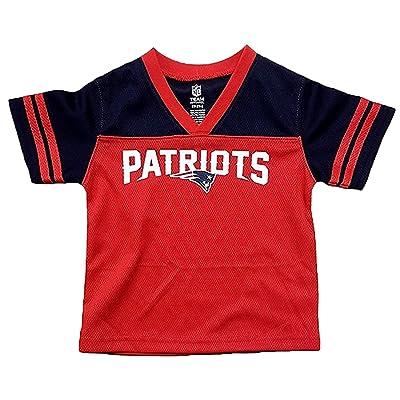 785623953 OuterStuff New England Patriots Red Boys Kids Team Apparel V Neck Jersey