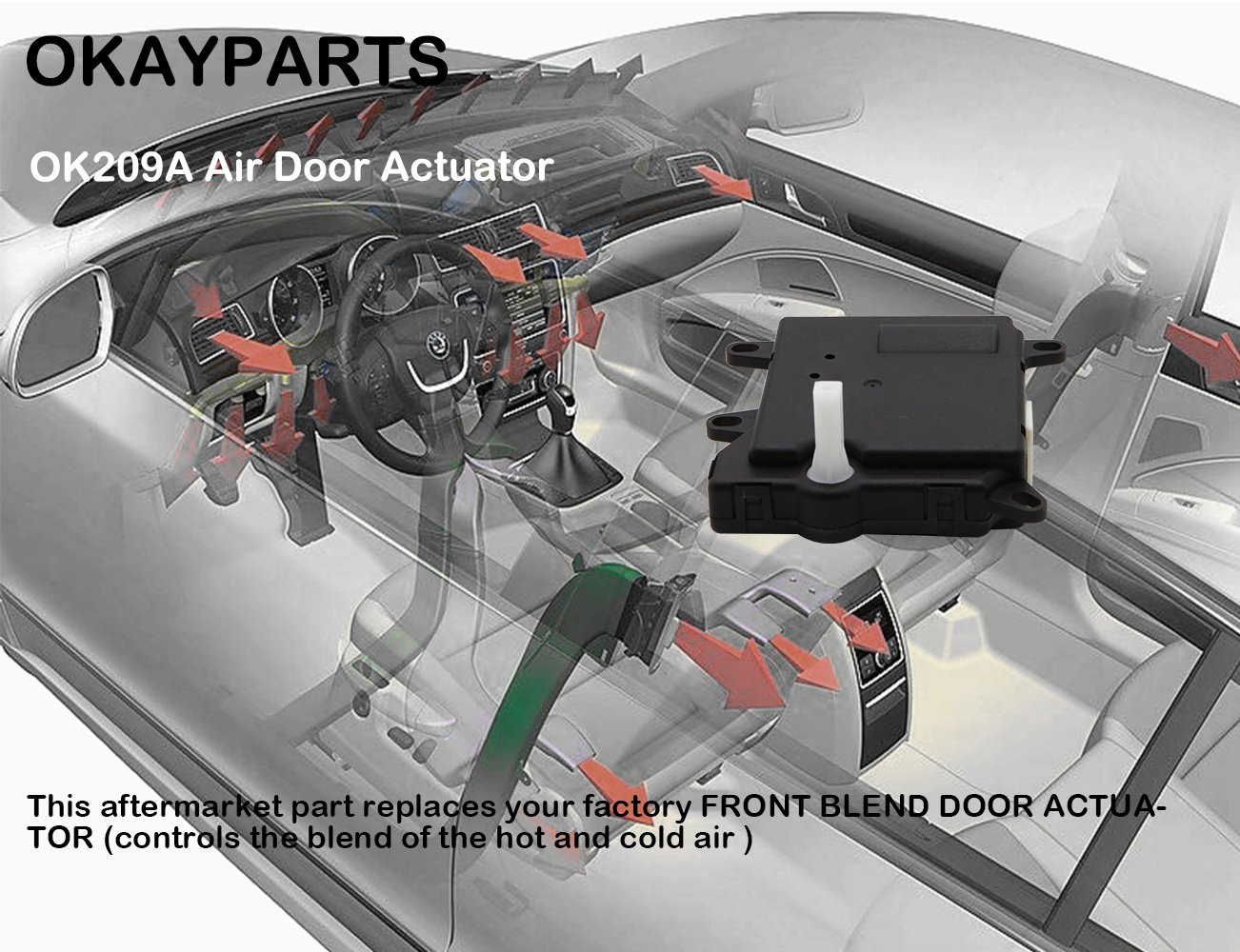 Front Hvac Heater Blend Door Actuator Fits Ford Explorer Mercury Mountaineer Electrical Troubleshooting Manual Expedition Sport Trac Replaces 1l2z19e616ca 1l2z 19e616 Ca Yh1744