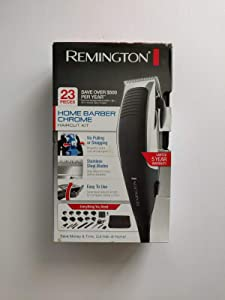 Remington Remington 23-piece home barber chrome haircut kit, hair clippers, black/grey, hc1085