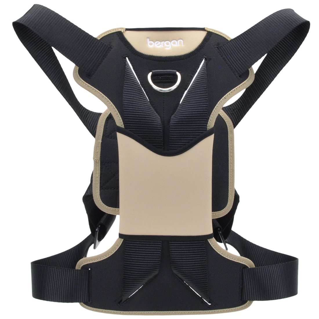 Bergan Auto Dog Harness Large-tan/black 50-80lbs