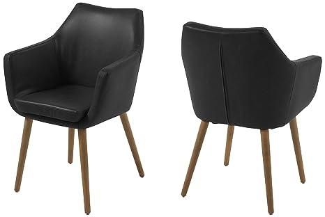 Sedia Imbottita Design : Ac design furniture sedia imbottita in similpelle con braccioli