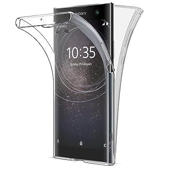 Buyus Funda Full Body Sony Xperia XA2 Transparente Silicona 360 Grados Carcasa Silicona Funda Case