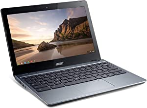 Used Chromebook in Good Condition C720 Lightweight Laptop Computer 11.6 inches 4GB RAM 16GB eMMC - Celeron 2955U Ultra-Light Design Chrome OS Online Class