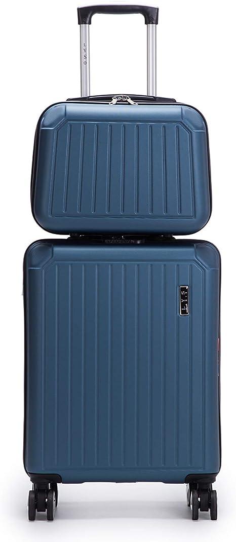 Marine Set de 2 Valise Cabine 55cm Rigide 8 Roues avec Vanity Case 35cm Ensemble 2 Pi/èces LYS