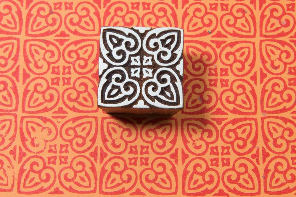 Blockwallah Indian Motif Wooden Block Stamp