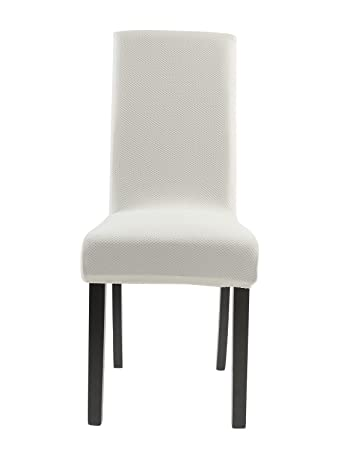 Homluxe Knit Spandex Stretch Dining Room Chair Slipcovers 4 White