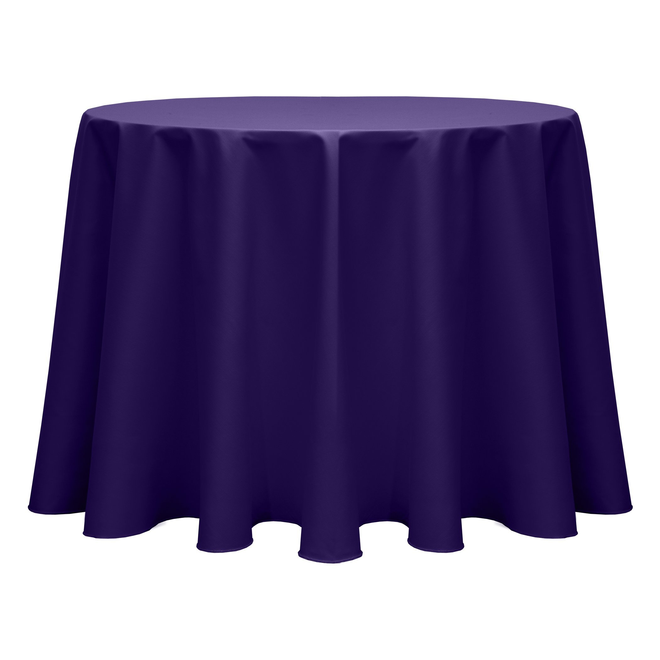 Ultimate Textile (55 Pack) Poly-cotton Twill 60-Inch Round Tablecloth - for Restaurant and Catering, Hotel or Home Dining use, Purple