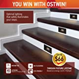 OSTWIN LED Step Light (4-Pack) Indoor/Outdoor Stair Light Fixture, Horizontal Stairway Light, Dimmable, Black Finish, 3 Watt, 5000 K (Day Light) 100 LM, ETL Listed