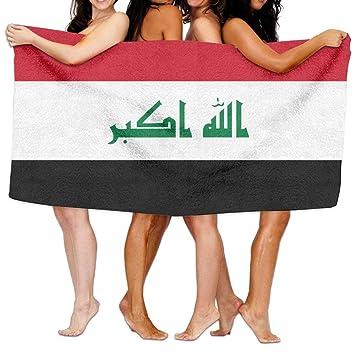 LUOL - Juego de Toallas de Playa Blandas con la Bandera de Irak para el hogar