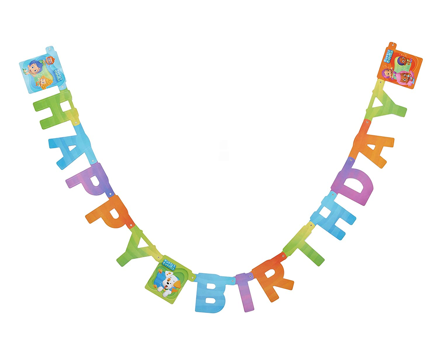 Amazon.com: Bubble Guppies Birthday Party Banner, Party Supplies ...