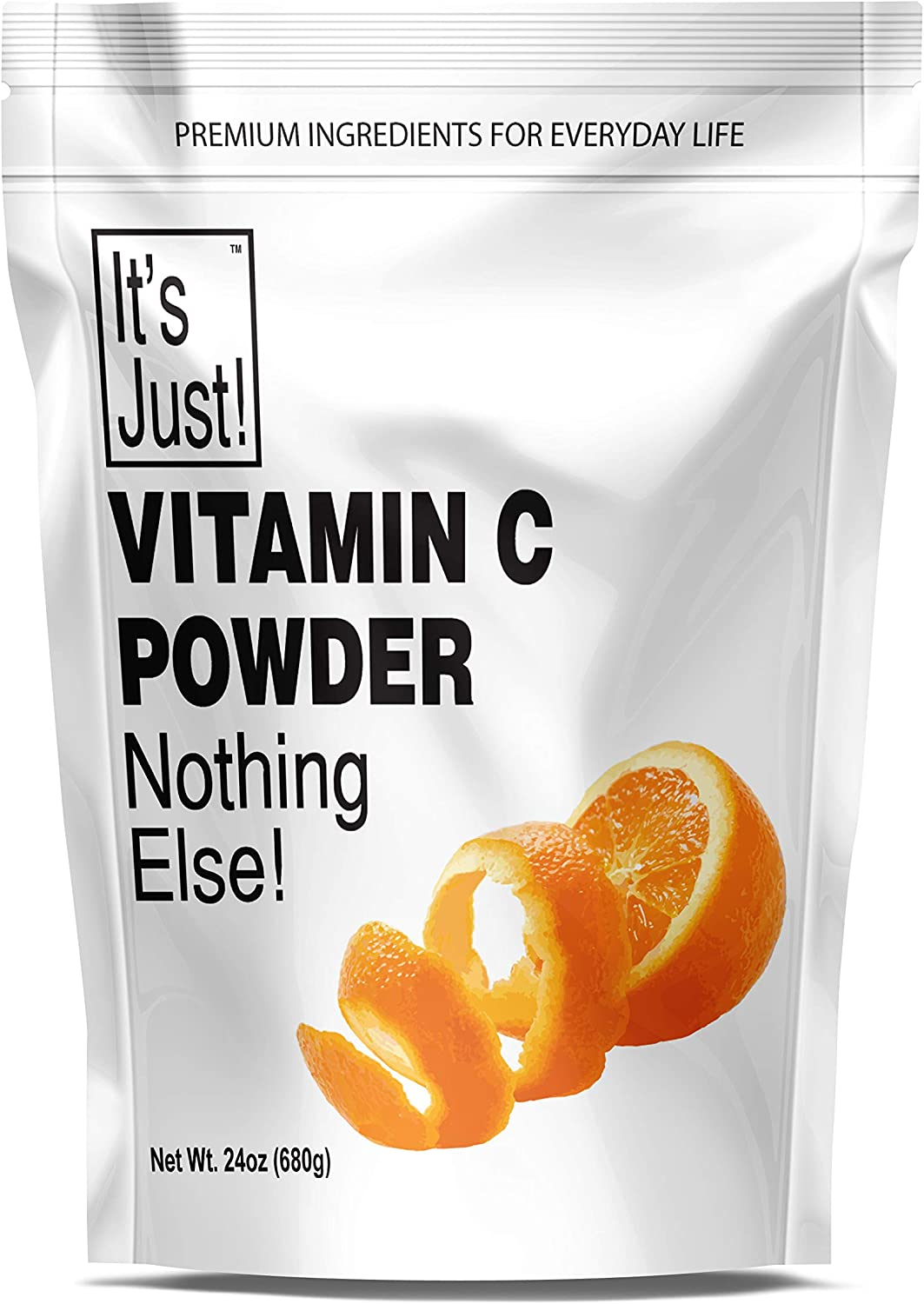 It's Just - Vitamin C Powder, 100% Pure Ascorbic Acid, Non-GMO, Immune Support, Homemade Cosmetics (24oz)