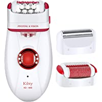Kibiy 3 IN 1 Hair Remover for Women, Ladies' Electric Shaver Razor Cordless Hair Removal Epilator Rechargeable Callus Remover
