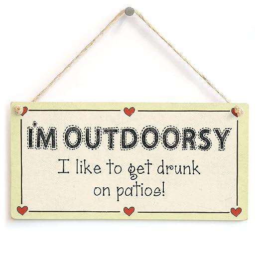 Hunnry Im Outdoorsy Letrero de Placa de Madera Carteles de ...