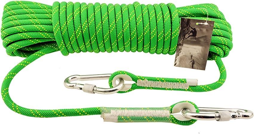 KTYXGKL Cuerda de escalada verde cuerda estática al aire ...