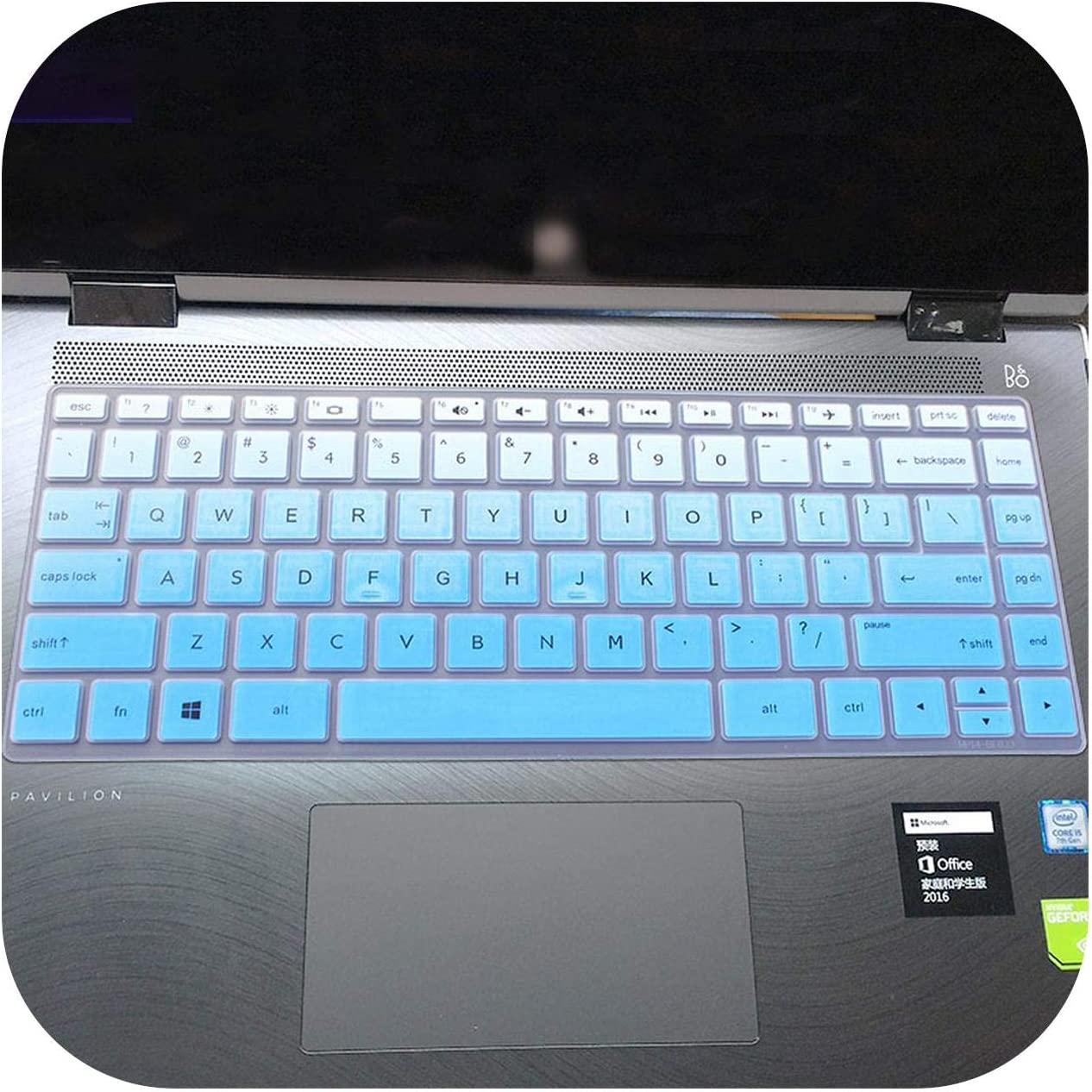 for HP Pavilion X360 14 cd0213nb 14 cd0003ne 14 cd0002ne 14 cd00073tx cd0021tx 14 14 cd Series Laptop Keyboard Cover Protector-Rainbow
