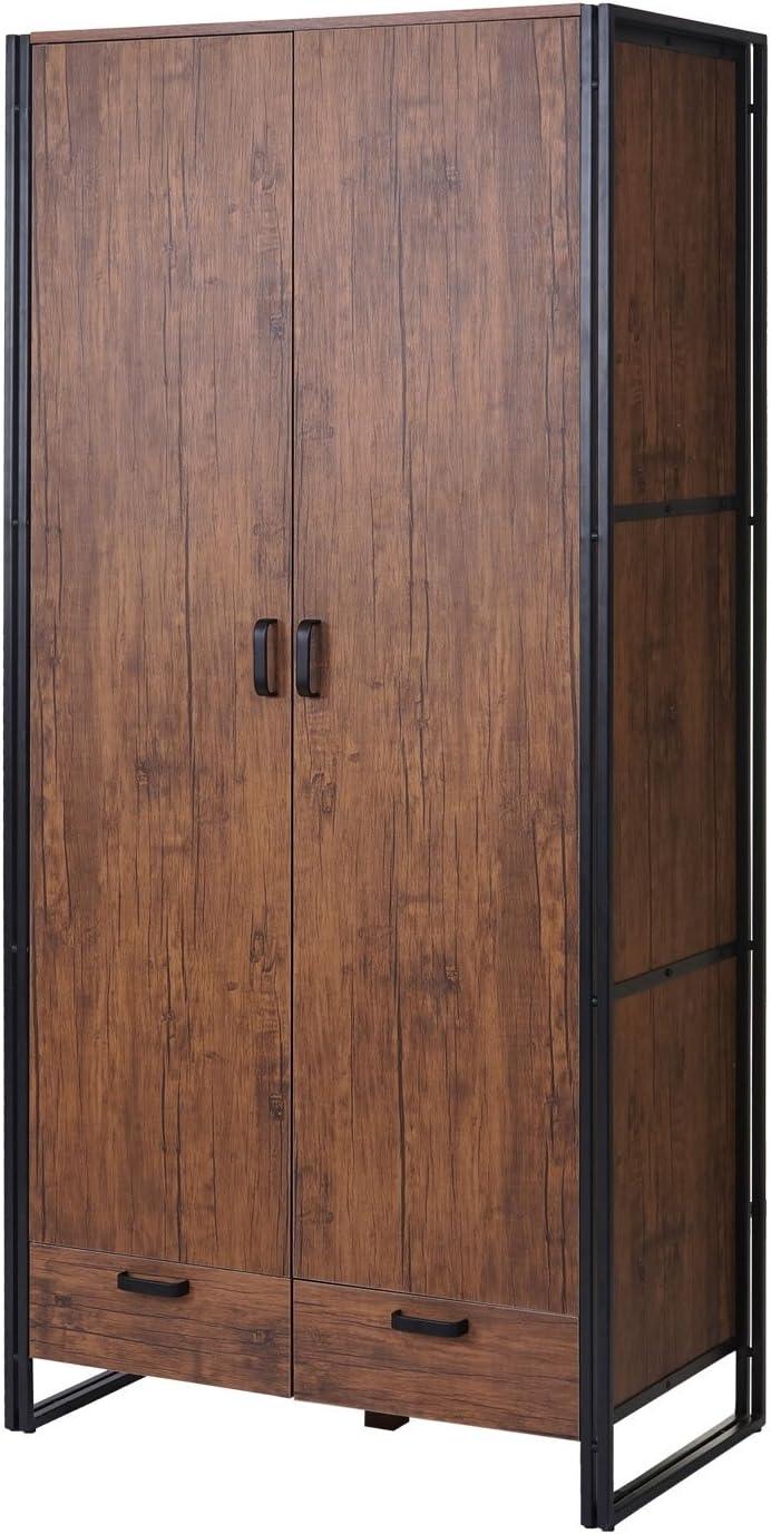 Couleur ch/êne Sauvage 190x90x50cm Structure 3D Garde-Robe//portemanteau//penderie//Armoire HWC-A27