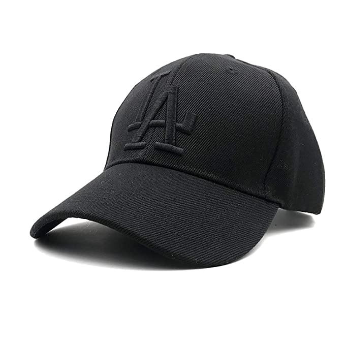 New Letter Baseball Caps LA Dodgers Embroidery Hip Hop Bone Hats for Men Women Adjustable Gorras NY Casquette Black at Amazon Womens Clothing store: