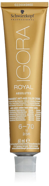 Schwarzkopf Professional Igora Royal Absolutes Anti-Age Color Creme 6-70 Tinte - 60 ml (4045787279320)