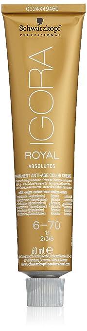 Oferta amazon: Schwarzkopf Professional Igora Royal Absolutes Anti-Age Color Creme 6-70 Tinte - 60 ml (4045787279320)