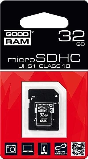 Goodram Micro SD C10 - Tarjeta de Memoria Micro SDHC de 32 GB