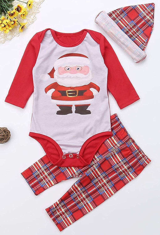 Dad Mom Baby Kids Family Matching Christmas Plaid Pajamas Set Cotton Sleepwear