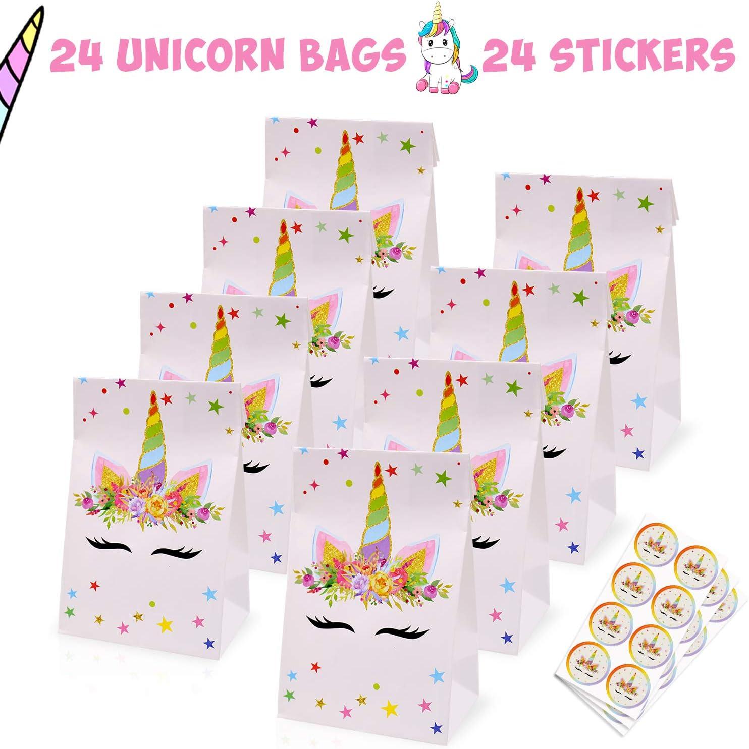 Unicorn birthday party treat bags birthday treat bags unicorn party little girl birthday party