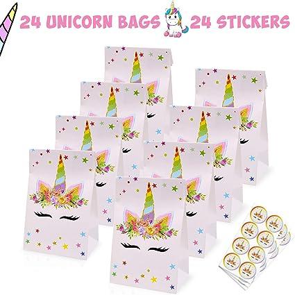 Amazon.com: Unicorn bolsas de caramelos para regalar ...