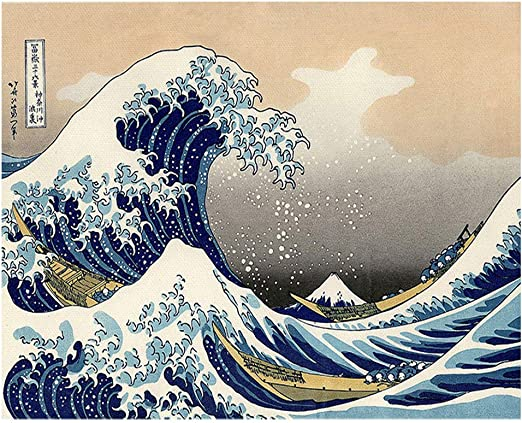Amazon.com: DIY 5D Diamond Painting The Great Wave Off Kanagawa by Katsushika Hokusai Full Drill Painting Arts Craft Canvas for Home Wall Decor Full Drill Cross Stitch Gift (17.7x13.8in, 35X45cm)