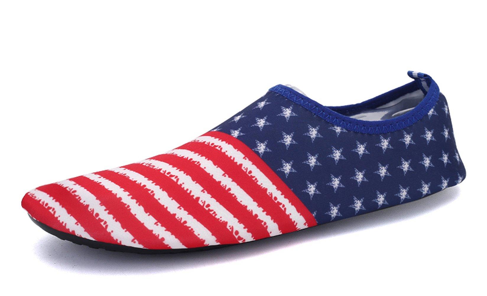 Demetory Unisex Outdoor Water Shoes Neoprene Lightweight Quick-Dry Barefoot Aque Socks Swim, Walking, Yoga, Beach, Water Park by Demetory (Image #4)