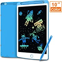 LCD Writing Tablet, Coovee 10 Inch Colorful Digital Ewriter Electronic Graphics Tablet Portable Mini Board Handwriting Pad Drawing Tablet with Memory Lock Suitable for Kids Home School Office