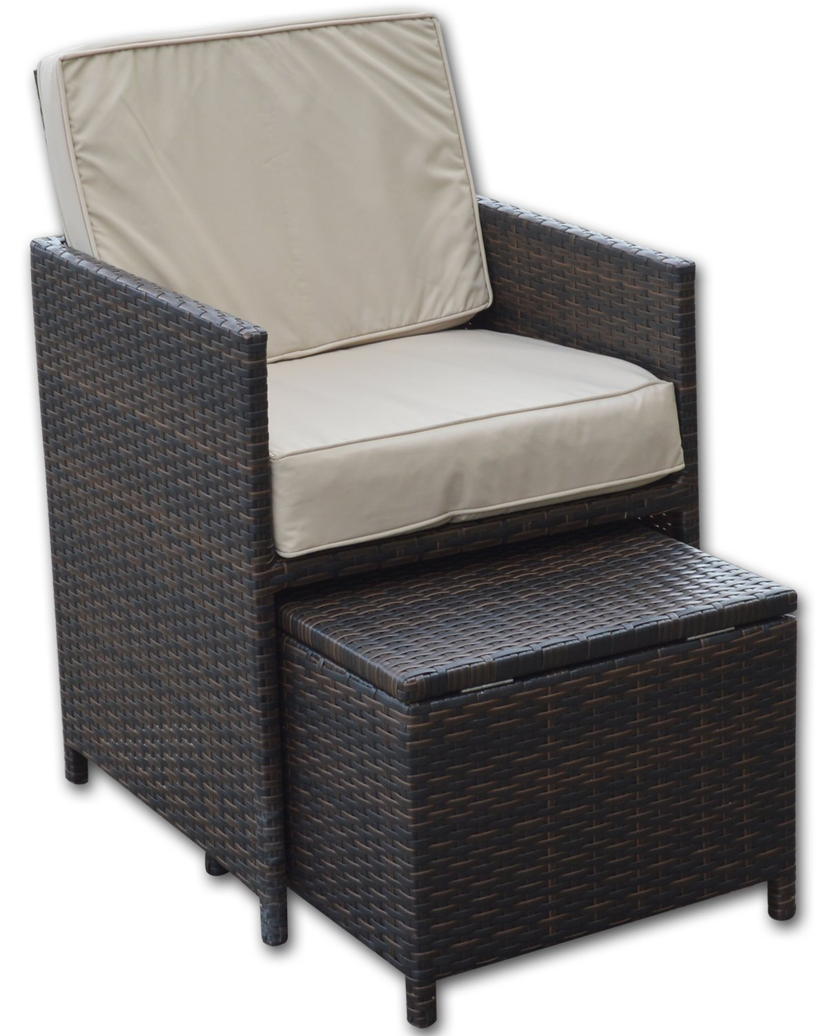 Woodside Replacement Rattan Garden Patio Furniture Seat & Back Cushions