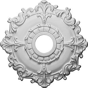 """Ekena Millwork CM18RL Ceiling Medallion, 18"""", Primed"""