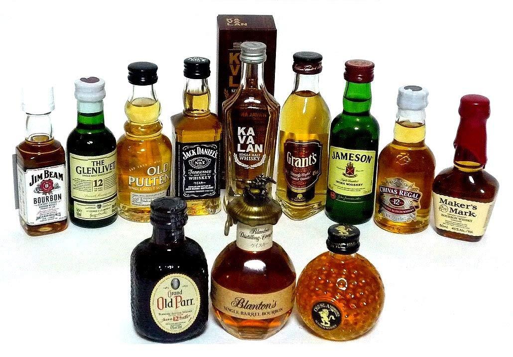 輸入ウイスキー ミニチュアボトル 12本セット 50ml B07B3SF29P