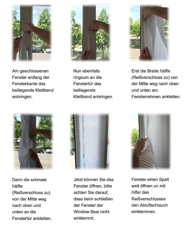 Hantech Fensterabdichtung Hot air Stop Window-Seal airlock HT800 für ...