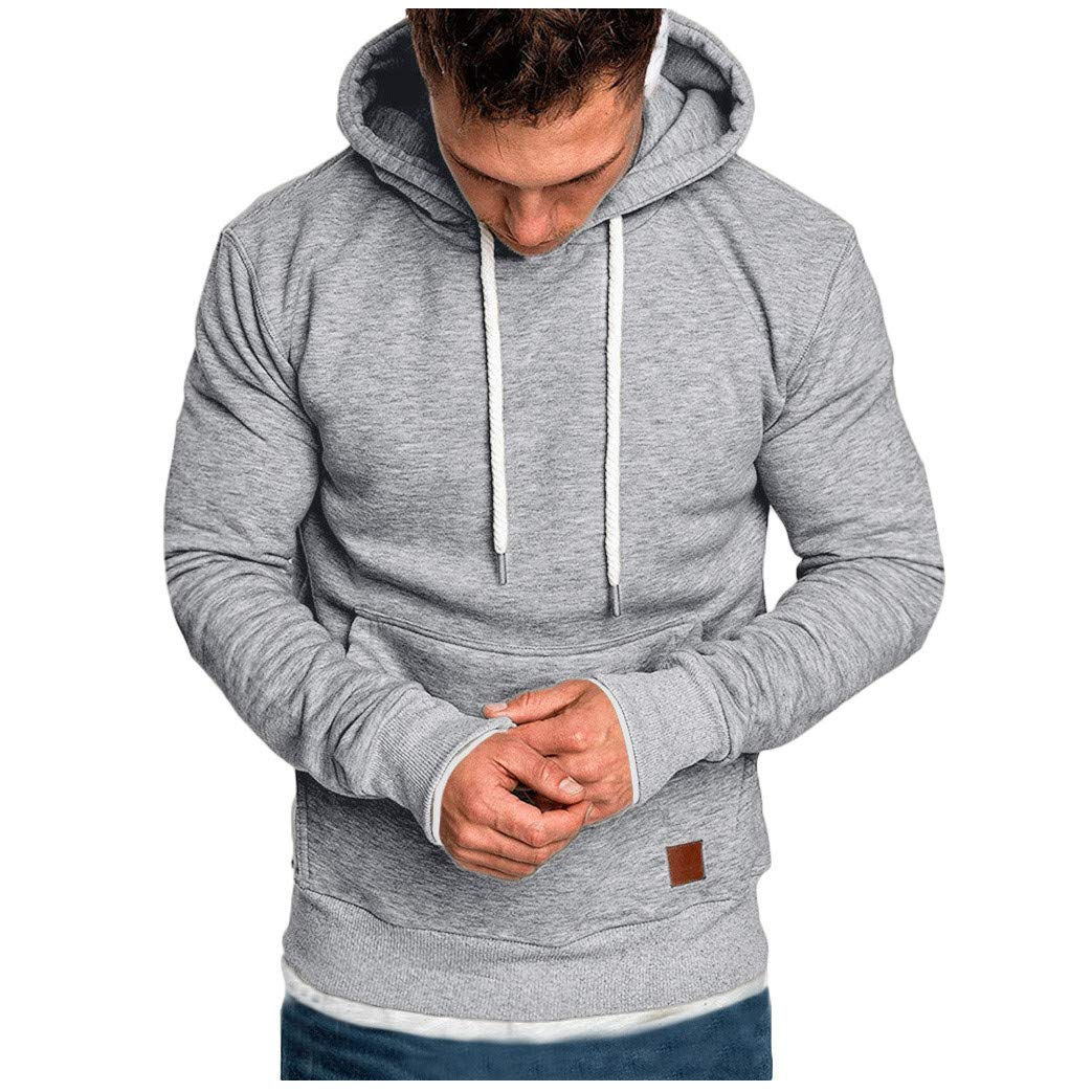 AcisuHu Newest Young Mens Hoodies Loose-Fit Casual Pullover Hoodie Long-Sleeve Tee Long Sleeve Tops Matching for Sports