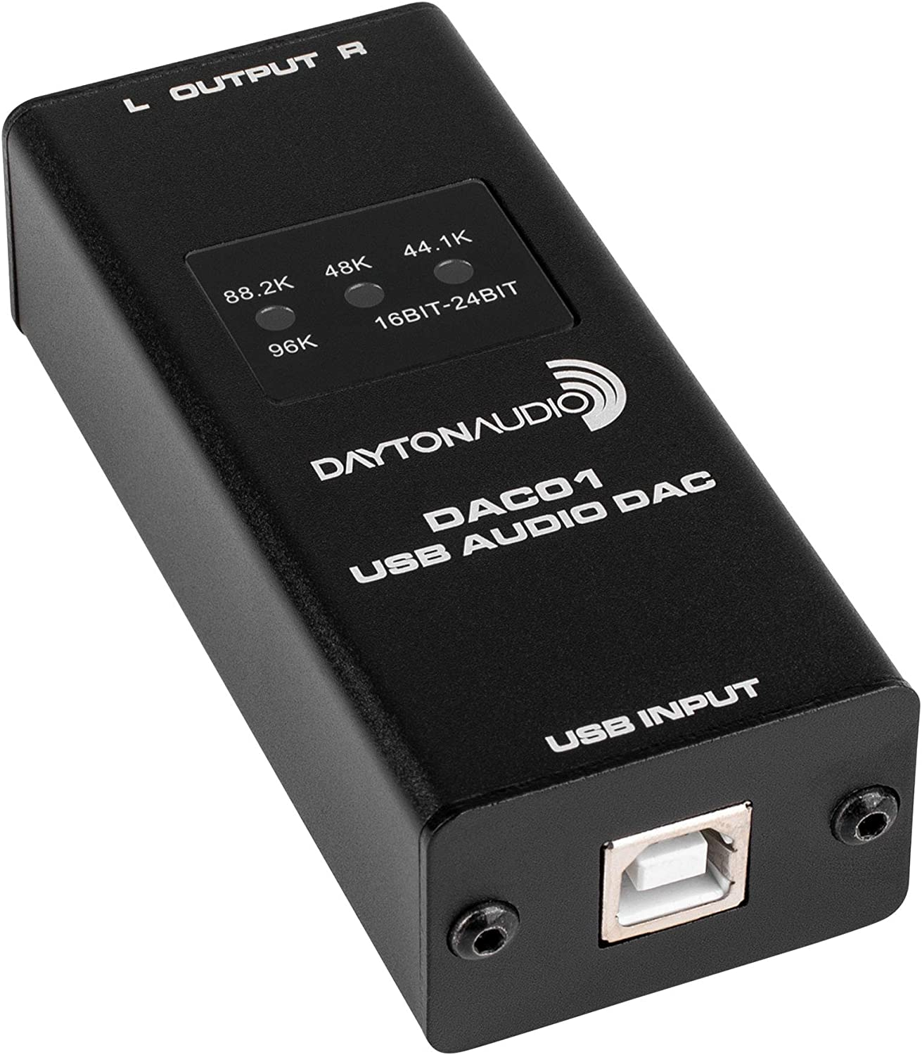 Dayton Audio DAC01 USB Audio DAC 24-bit/96 kHz RCA Output