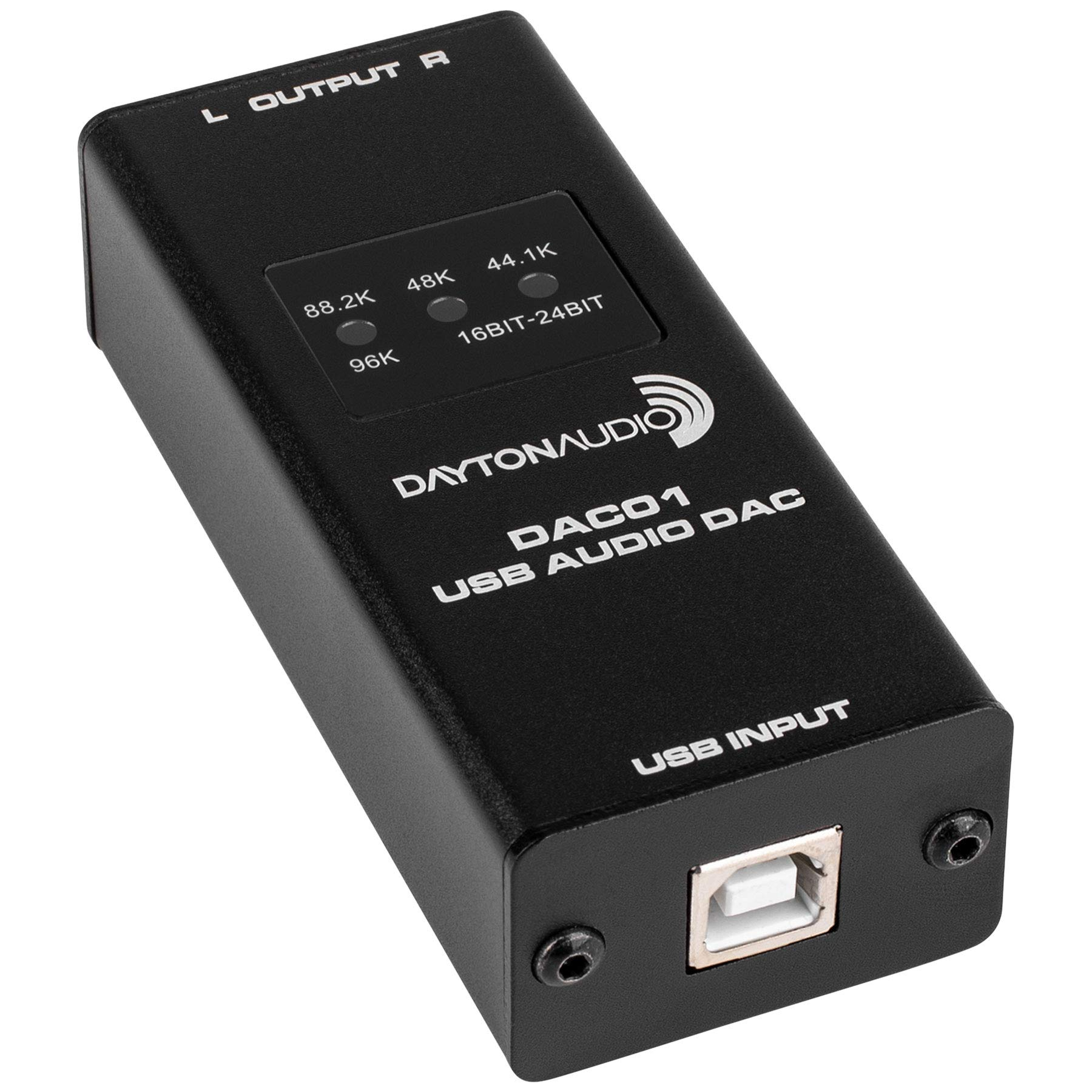 Dayton Audio DAC01 USB Audio DAC 24-bit/96 kHz RCA Output by Dayton Audio